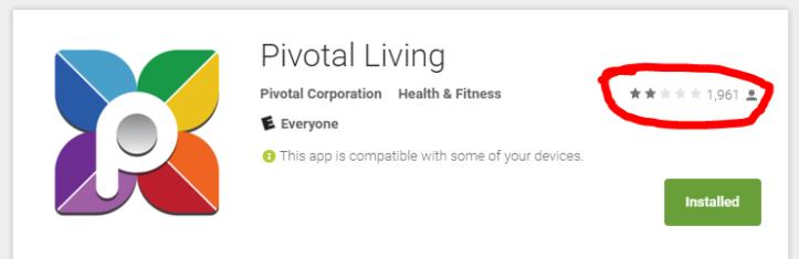 Pivotal-Living-app-ratings
