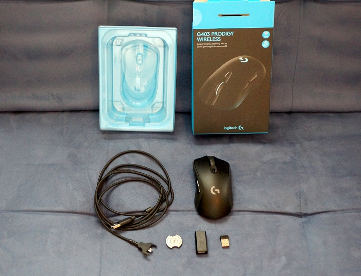 Logitech-G403-Prodigy-unboxed-accessories