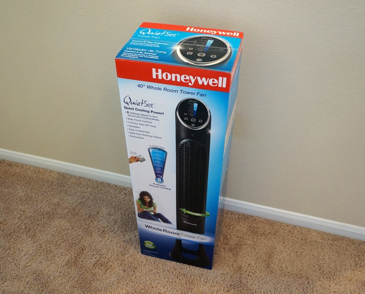 Honeywell-HYF290B-Quietset-Tower-Fan-Package-Box