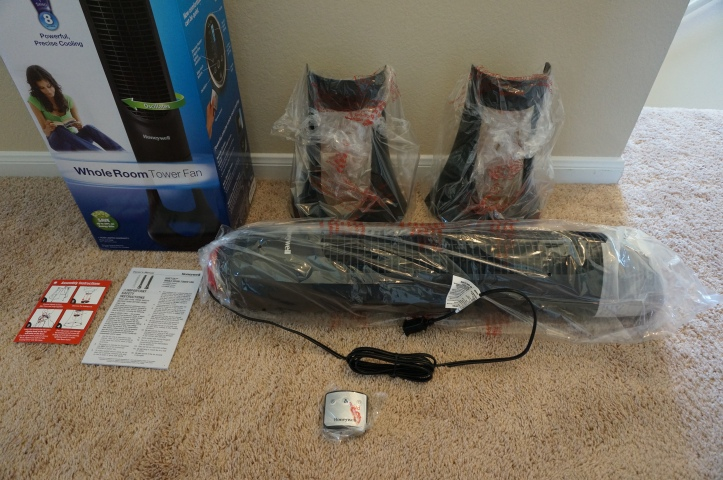 Honeywell-HYF290B-Quietset-Tower-Fan-Unboxing-Parts-Pieces