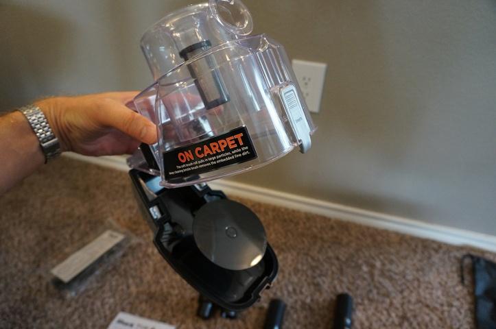 Shark-DuoClean-Ultralight-Vacuum-HV382-dust-cup