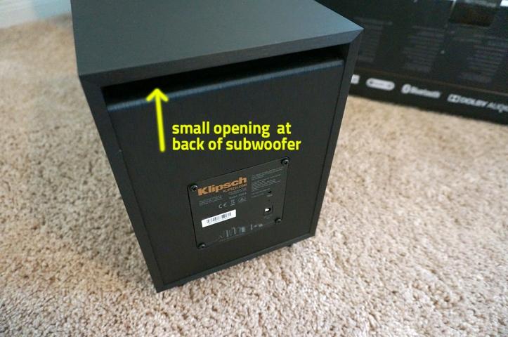 Klipsch-Reference-RSB-8-Soundbar-Woofer-Back-View